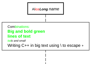 sequence diagram text styling color example
